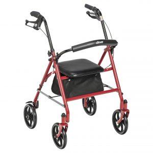 Drive Medical Durable 4 Wheel Rollator