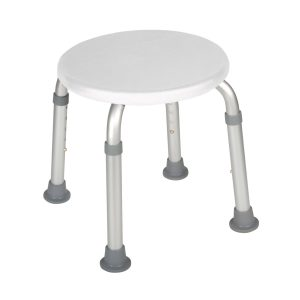 Drive Medical Adjustable Height Bath Stool - White