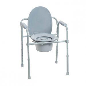 Folding steel commode - Drive Medical RTL11158KDR