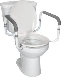 Toilet bowl to floor safety rails - Drive Medical RTL12000