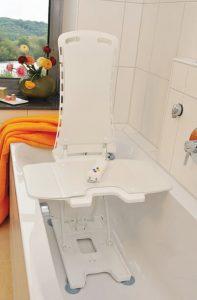 bath lifter in bathtub