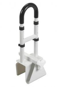 bathtub safety rail clamp