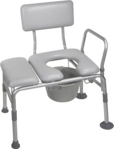 padded transfer bench commode