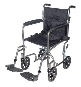 Drive Medical Lightweight Steel Transport Wheelchair-min