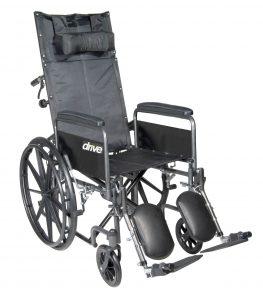 Drive Medical Silver Sport Reclining Wheelchair-min