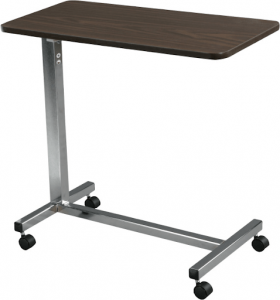 Drive Medical Non-Tilt Top Overbed Table-min