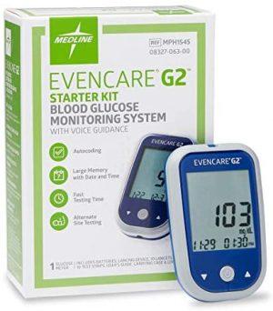EVENCARE G2 Blood Glucose Monitoring System Starter Kit