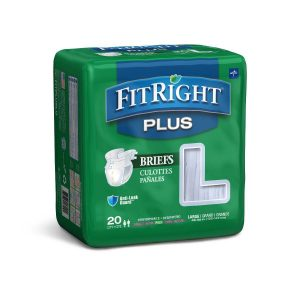 FitRight Plus Cloth-Like Adult Incontinence Briefs